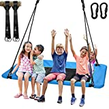 "Trekassy 660lb Giant 60"" Platform Tree Swing for Kids and Adults Waterproof with Durable Steel Frame and 2 Hanging Straps, No Fading"