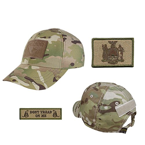 US State Operator Cap Bundle - with State & Dont Tread On Me Patches - New York