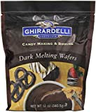 Ghirardelli Chocolate Dark Melting Wafers 12Oz (Pack of 6)