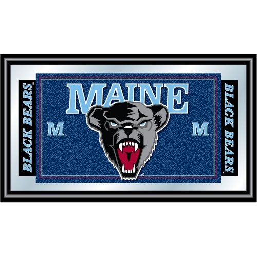 NCAA Logo and Mascot Framed Mirror Size-Color - 26 - Maine by Trademark