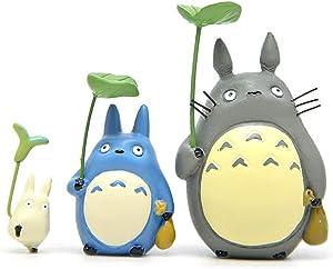SCAU 3 pcs Totoro Clover Resin Mini Micro Landscape Gardening Decorative Potted Flower Pots Resin Gardening Accessories Ornaments (style1)