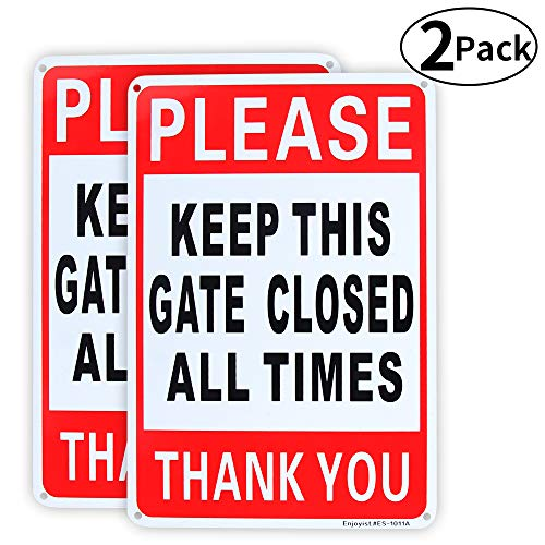 2 Pack Please Keep This Gate Closed Sign 10
