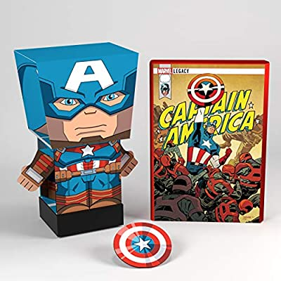 Far Out Toys Captain America Toy - Marvel Pulp Heroes - Collectible Snap Bots - Comic Book Packaging: Toys & Games