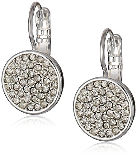 (Anne Klein Silver Tone and Crystal Pave Drop)