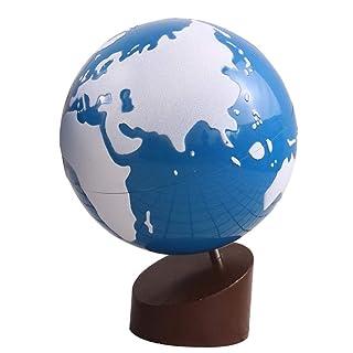 SHRCASE Globo Girevole educativo Mondo Continentale e Globo d'Acqua Globo glassato Globo per Bambini Educativo e Divertente per i Bambini delle scuole (Colore : Bianca, Dimensione : Free Size)