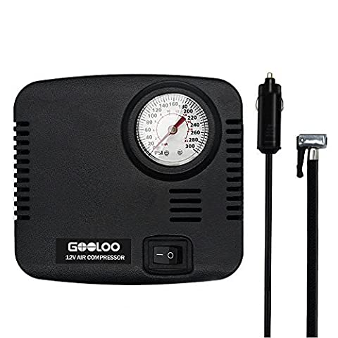 GOOLOO 300PSI Tire Inflator Premium Electric 12v DC Portable Auto Air Compressor Pump for Car, Truck, Bicycle or RV, Basketballs, Air Bed Mattress and Other - Electric Ball Inflator