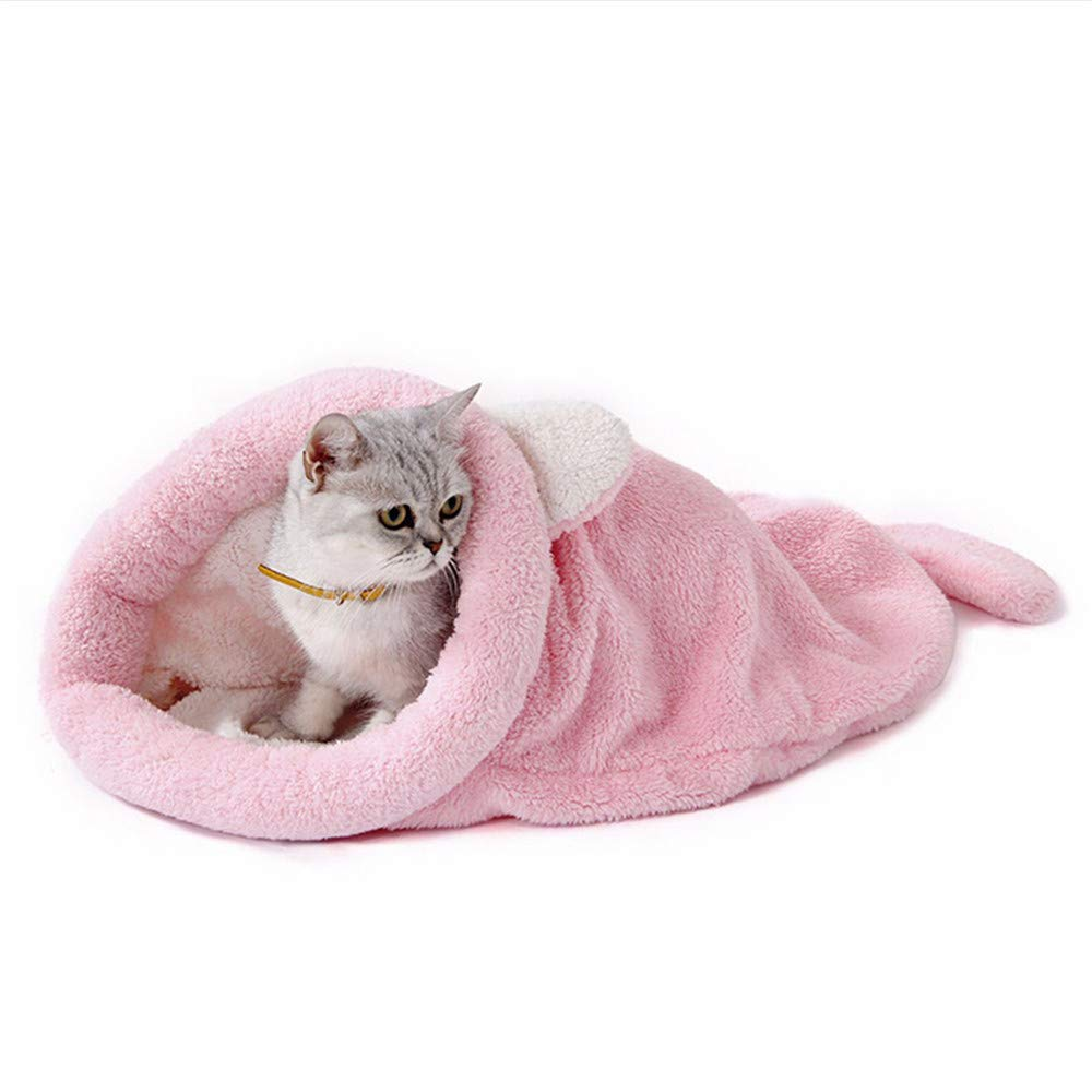 Wuwenw rosa Autunno E Inverno Stile Cute Cat Sacco A Pelo Warm Dog Cat Letto Pet Dog House Lovely Morbido Pet Cat Mat Cuscino 50X40Cm