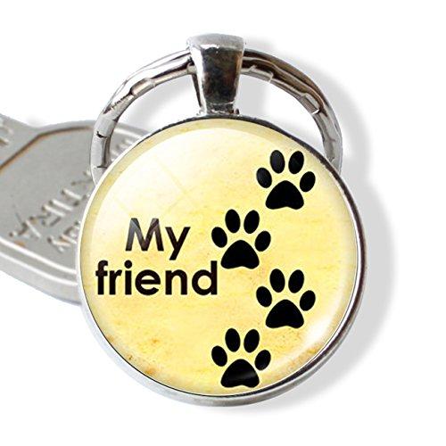 (1 Pc Mini Pocket Paw Prints Keychain Keyring Keyfob Dog Lovers Christmas Pendant Keys Chains Rings Tags Strap Wrist Unrivaled Popular Cute Wristlet Utility Keyrings Tool Teen Women Girls Gift, Type-09)