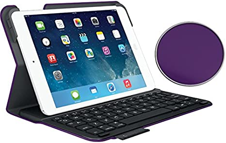Logitech Type Renewed Carbon Black Protective case with integrated keyboard For iPad Air
