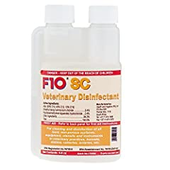 F10SC (super concentrate) veterinary disinfectant is an EPA approved hospital grade disinfectant. It is used in many of the world's leading veterinary hospitals and zoological institutions as well as by leading reptile, avian and exotic pet b...