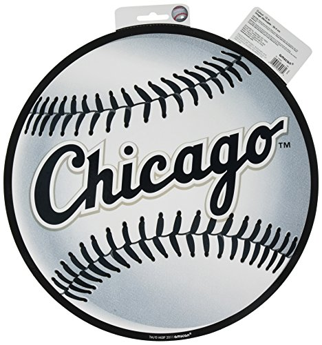 amscan Chicago White Sox Major League Baseball Collection Cutout, Party Decoration, 6 Ct. ()
