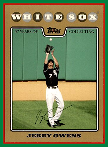(2008 Topps GOLD Border #144 Jerry Owens SERIAL #1499/2008 CHICAGO WHITE SOX)