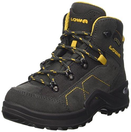 Lowa Kody III GTX Mid Junior, Stivali da Escursionismo Unisex-bambini Grigio (Anthrazit/Gelb)