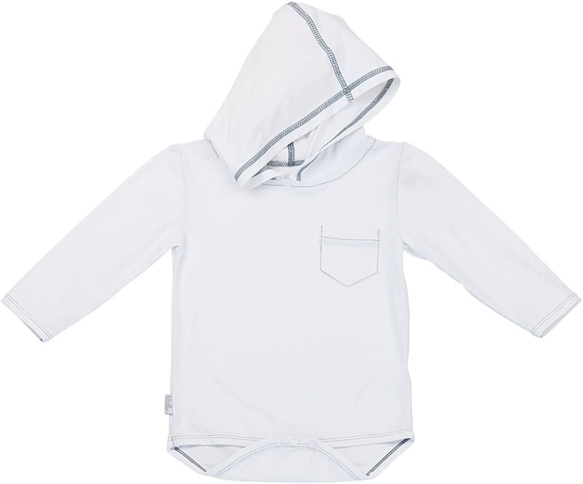 Protection Comfortable Bamboo Knit 10274 UV Skinz Baby Girl Hooded Sunzie UPF 50