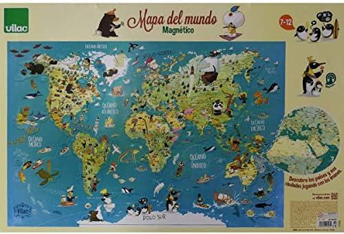 Vilac- Mapa del Mundo magnético, 76x50x1 (2720S): Amazon.es ...