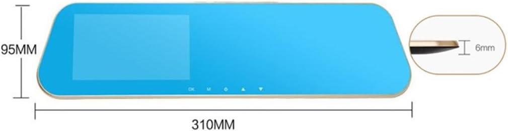 Cámara del espejo de la lente dual, cámara del coche de 4.3 pulgadas 1080P HD, registrador video del coche para los vehículos Rearview Mirror + Rearview Camera Parking Monitor: Amazon.es: Deportes y