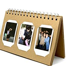 CaiulBasic Album Crab [Fuji Instax Mini Photo Album] For Instax Mini 8 70 7s 25 50s 90 Film/Pringo 231 Film/Fujifilm Instax SP 1 Film/Polaroid PIC-300P Film/Polaroid Z2300 Film (TL-01,60 Photos)
