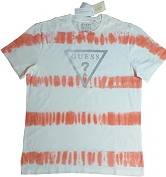 Guess LA Tie-Dye Reflective T Shirt Mens Size Medium