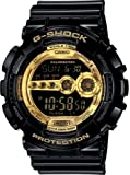 Men's Black Resin G-Shock Digital Strap Gold Tone