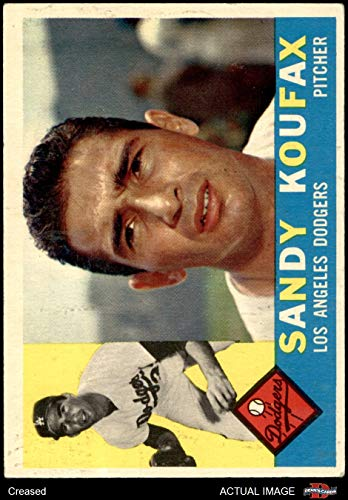 1960 Topps # 343 Sandy Koufax Los Angeles Dodgers (Baseball Card) Dean's Cards 3 - VG Dodgers