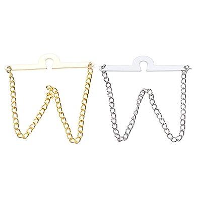 Fenteer 2 Piezas de Collar de Corbata de Cobre de Plata y Oro con ...