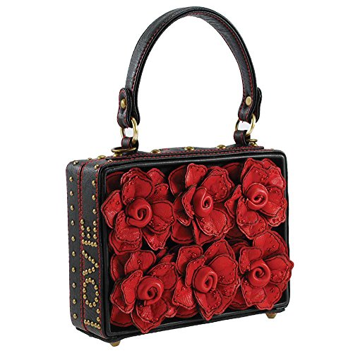 Mary Frances Top Multi Bag D Roses Story Handle Love 3 RR7qrBv