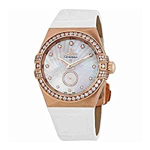 Omega Constellation Mother of Pearl Diamond Dial Ladies Watch 123.58.35.20.55.001