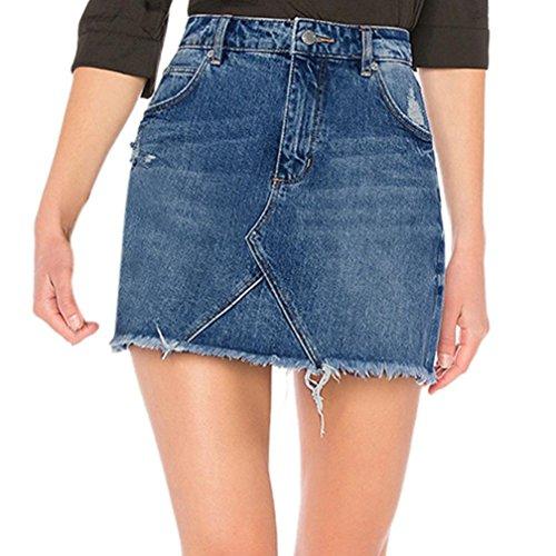 Pantalones Mujer Adeshop Vaqueros de S mezclilla azul xqFxHCUwf