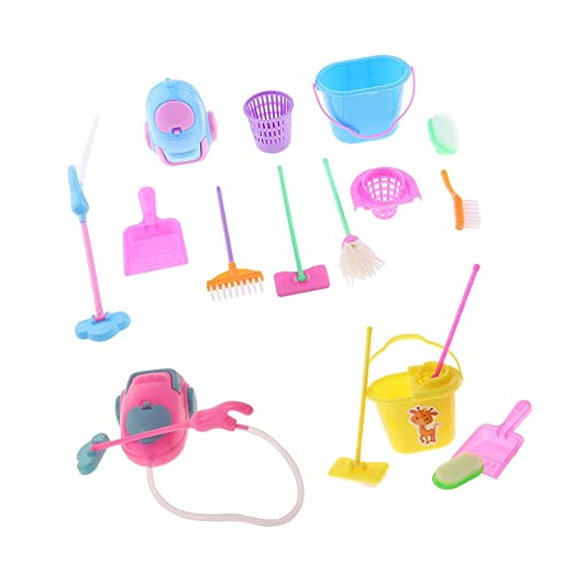 Cleaning Toys Housekeeping Brush Furniture 12inch Fashion Doll Furniture