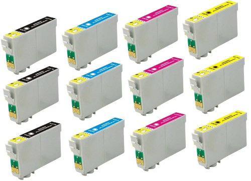 Virtual Outlet 12 Pack Remanufactured Inkjet Cartridges for Epson T060 #60, T060120 T060220 T060320 T060420 Compatible with Epson Stylus C68, Stylus C88, Stylus CX3800, Stylus CX3810, Stylus CX4200, Stylus CX4800, Stylus CX7800, Stylus CX5800F, Stylus C88