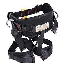 Enhanced Version Harness, Protect Waist Leg Climbing Harness, Oumers Waistbelt Wider Safe Seat Belts For Fire Rescue Higher Level Caving Rock Climbing Rappelling Equip Women Man Child Half Body Black