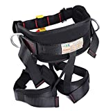 Enhanced Version Harness, Protect Waist Leg Climbing Harness, Oumers Waistbelt Wider Safe Seat Belts For Fire Rescue Higher Level Caving Rock Climbing Rappelling Equip Women Man Child Half Body Black