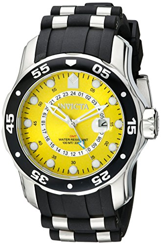 Yellow Dial - Invicta Men's 6988 Pro Diver Collection GMT Yellow Dial Sport Watch