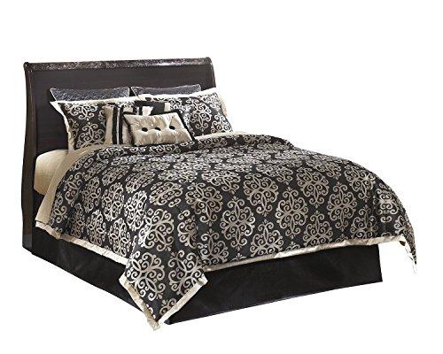 Ashley Esmarelda 5PC Queen Full Panel Headboard Bedroom Set With Chest In Dark Merlot (Merlot Panel Bed)