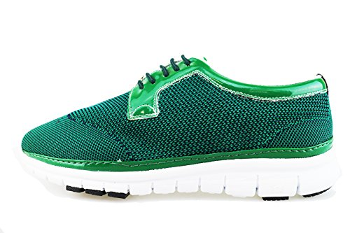 BRIMARTS sneakers uomo verde tessuto AG82