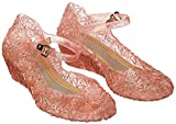 Katara ES10 - Girl's Festive Princess Heel Shoes, Mary Janes Jelly Sandals, UK girls size 9.5, Pink