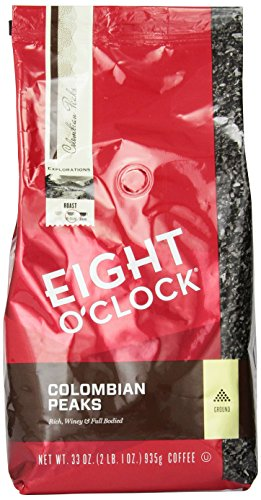 eight-oclock-colombian-peaks-ground-coffee-33-ounce-bag