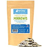 Raw Paws Pet Freeze Dried Minnows for Dogs & Cats, 2-oz - USA Fish Dog Treats - All Natural, Single Ingredient Minnow Cat Treats - Raw Freeze Dried Dog Snacks - Grain Free Cat Reward