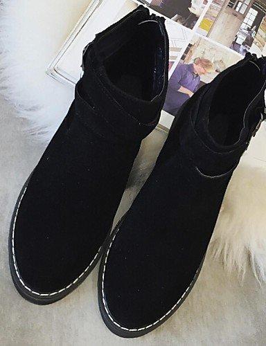 Femme pour pour Citior Chaussons décontracté Bottes Plein Plat en Fourrure Chaussures air Talon Bottes Femme beige 5xBqgqpn