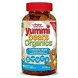 Yummi Bears Organics Gummy Vitamins, Complete Multi Vitamin and Mineral Gummy Bears, 180 Count