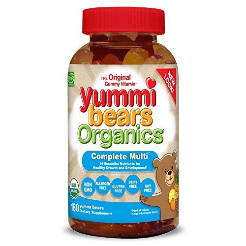 Yummi Bears Organics Gummy Vitamins, Complete Multi Vitamin and Mineral Gummy Bears, 180 (Bear Ship)