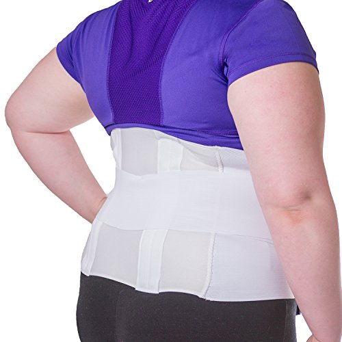 (BraceAbility Plus Size 3XL Bariatric Back Brace | XXXL Big & Tall Lumbar Support Girdle for Obesity Lower Back Pain in Extra Large, Heavy or Overweight Men and Women (Fits 54