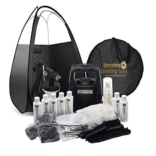 Spray Tan Pro HVLP Spray Tanning Kit Includes Tent, Machine & Disposables