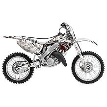 AMR Racing Honda CR125 1995-2008: Bone Collector - White MX Dirt Bike Graphic Kit
