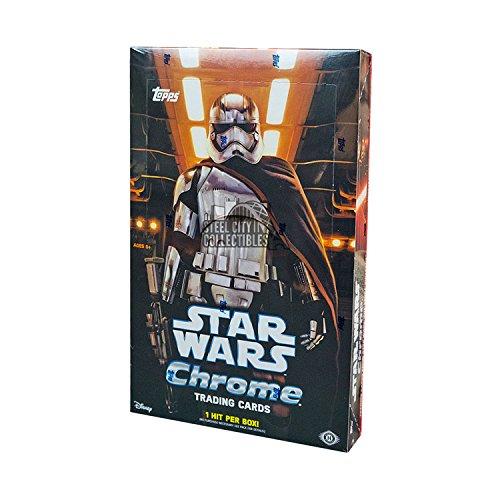 2016 Topps Star Wars The Force Awakens CHROME Hobby Box - 24 packs of 6 cards! ()