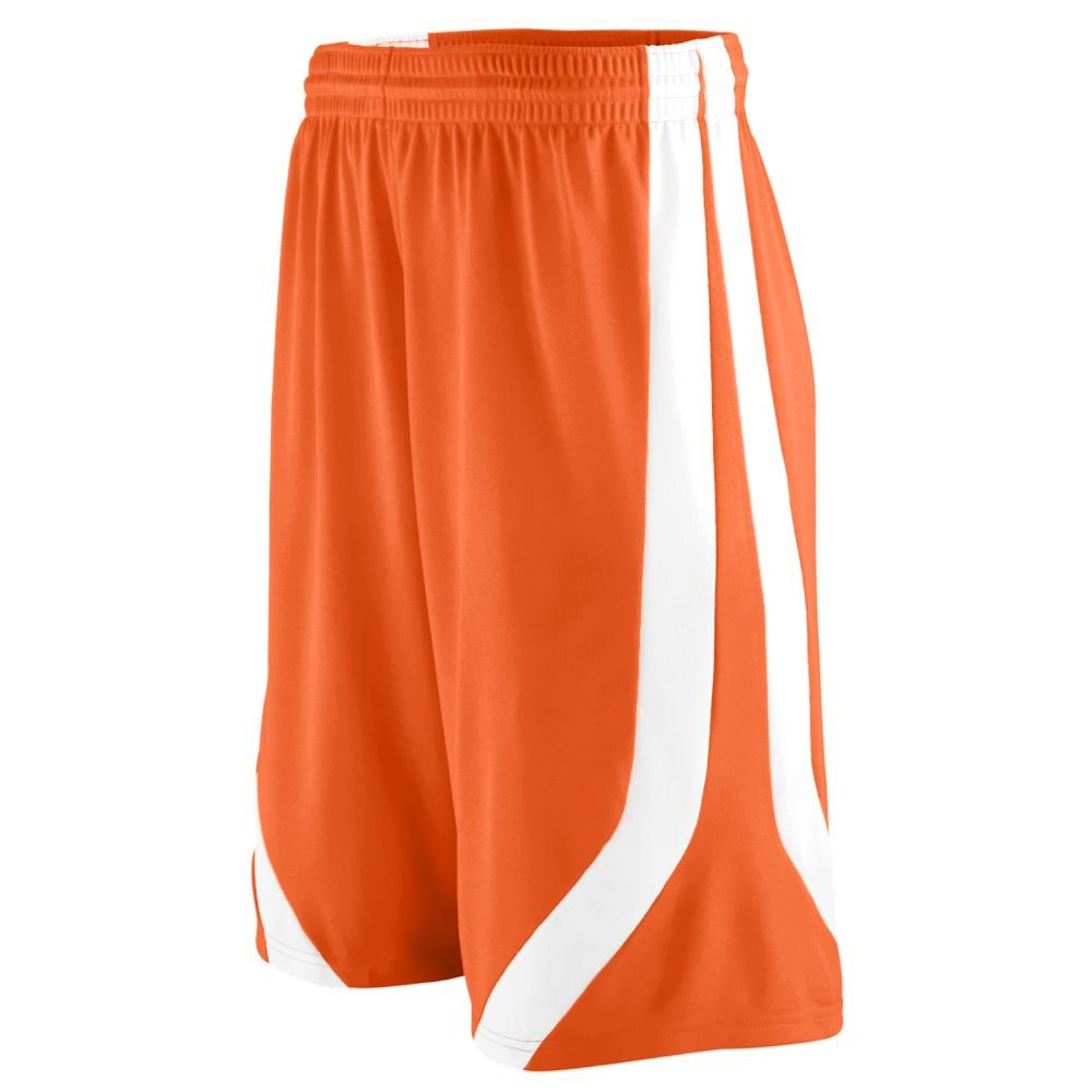 Small Youth Triple-Double Game Short Orange and White