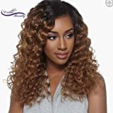 Lace Front Human Hair Wigs Deep Wave Curl 8A Pre Plucked Lace Human Hair Wigs For Black Women Brazilian Lace Front Wigs (18'', full lace wig)
