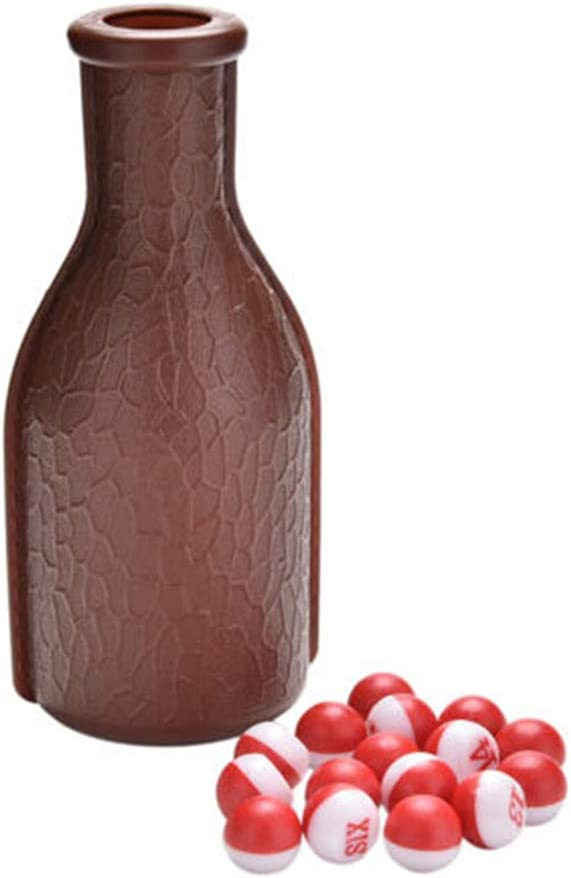 GZQ Billiard Plastic Tally Pool Shaker Bottle with 16 Numbered Peas//Balls