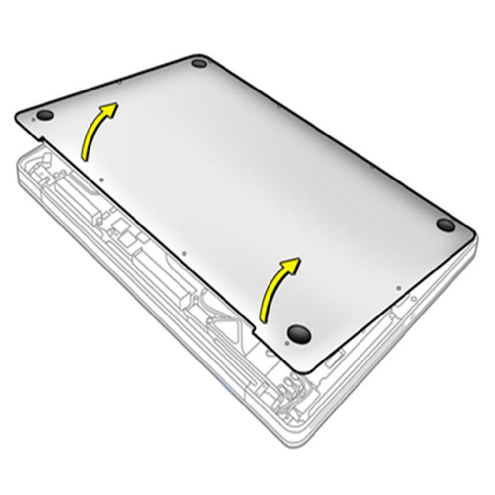 Domybest 4/pcs OEM inf/érieur Coque Pieds en caoutchouc Pied de rechange pour Apple MacBook Pro Retina A1398/A1425/A1502