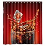 Coca Cola Shower Curtain Shower Curtain Custom Cool Cola Waterproof Fabric Bathroom 66